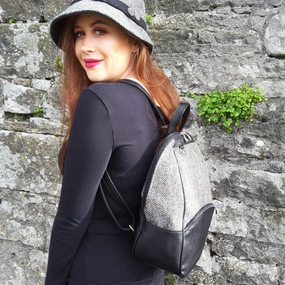 Dingle Linens aisling backpack with clodagh hat