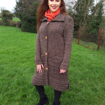 Dingle Linens deirdre brown coat