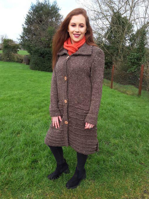 Dingle Linens deirdre brown coat