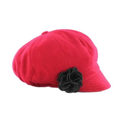 Newsboy Cap Red