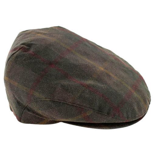 trinity cap wax tartan green