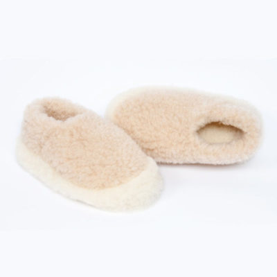 Dingle Linens beige slippers