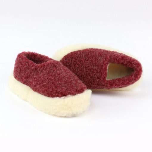 Dingle Linens burgundy slippers