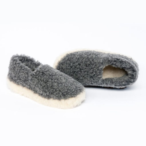 Dingle Linens grey slippers