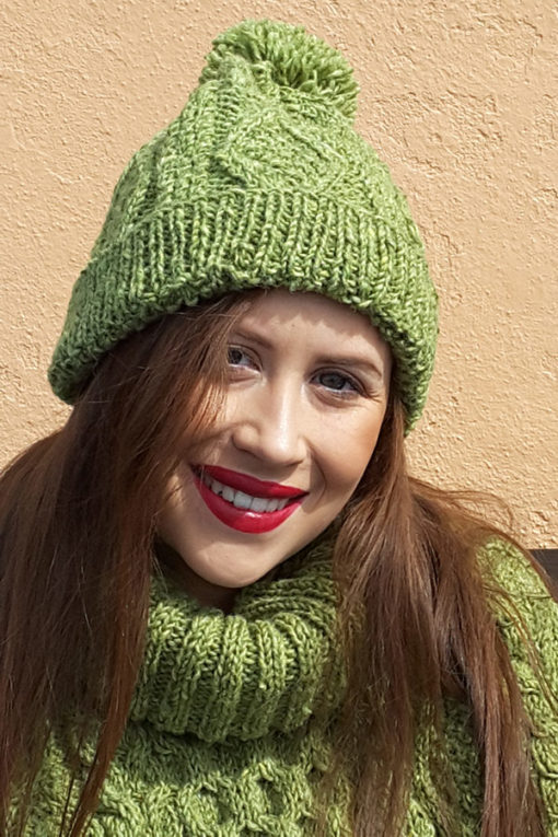 Handknit Traditional Irish Cap