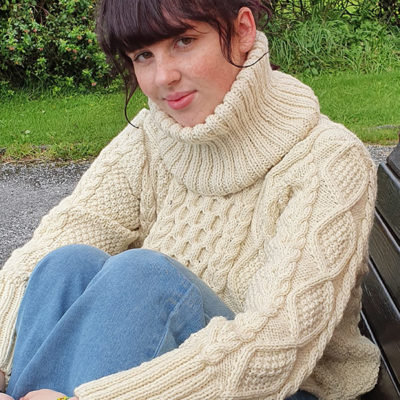 Handknit Traditional Irish Sweater