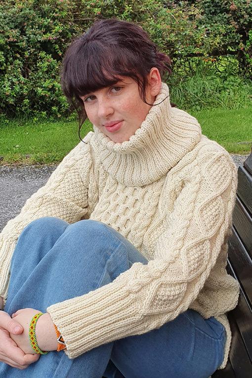 Handknit Traditional Irish Sweater